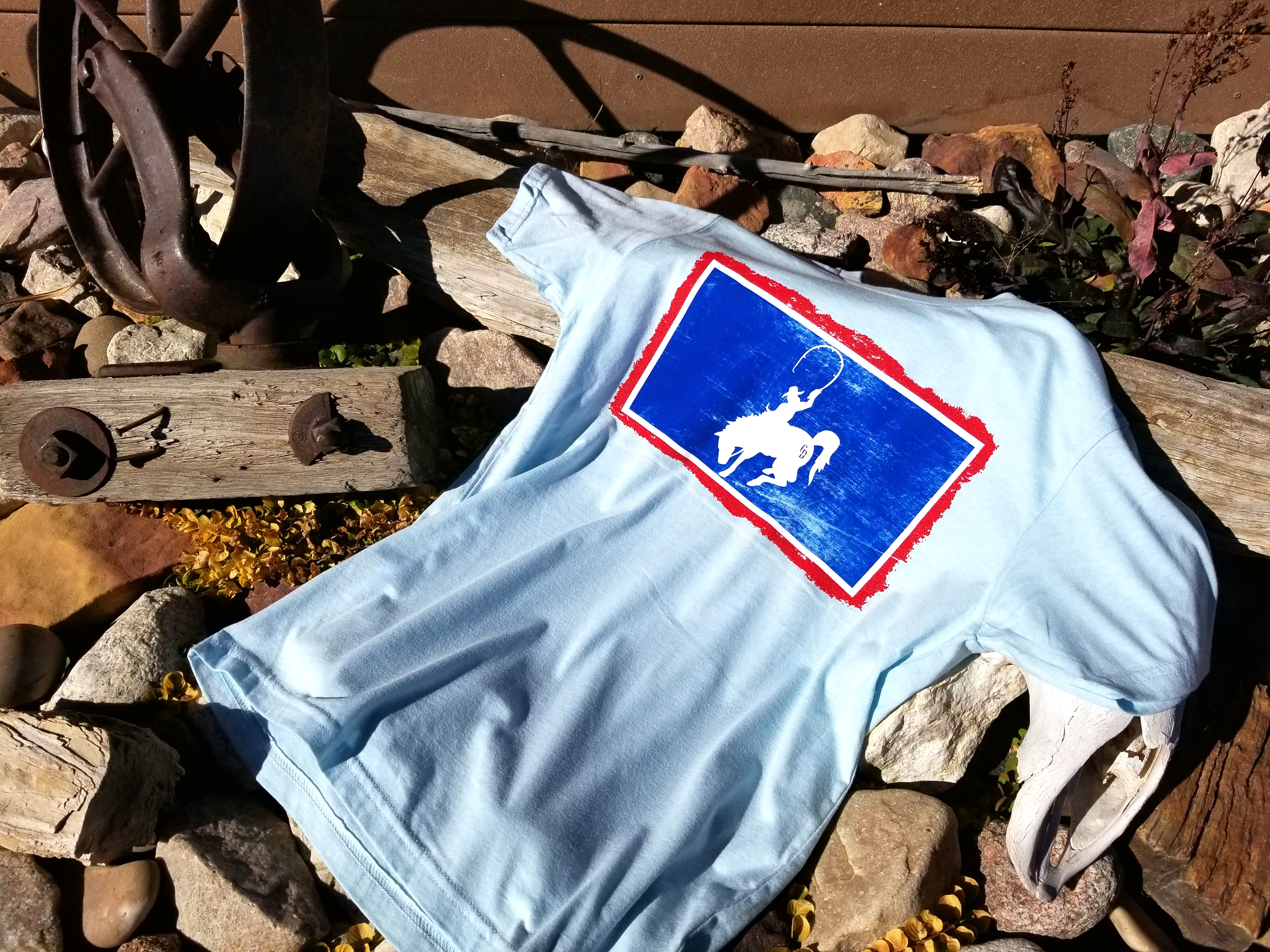 CD Flag Tee Blue - Cowboy Drifters