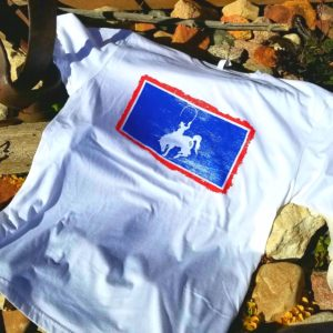 CD Flag Tee White - Cowboy Drifters